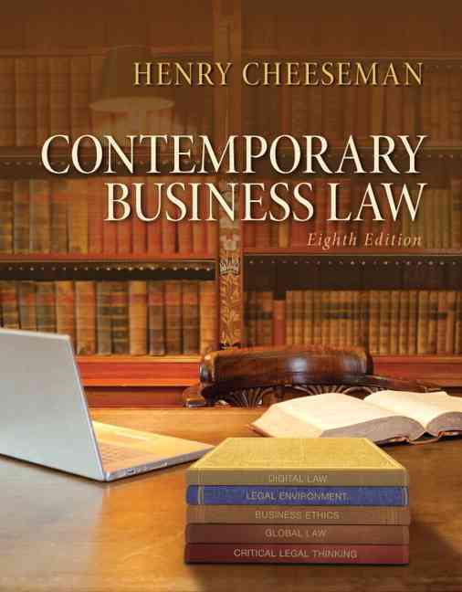 Contemporary Business Law By Cheeseman, Henry R.